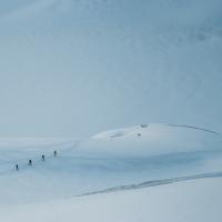 Cordada en el glaciar Blanc