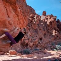 Britta en Red Rock Canyon